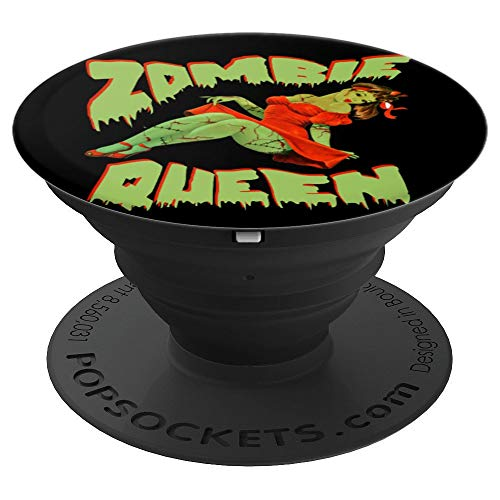 Halloween Pin Up Girl Photos (Zombie Pin Up Girl Halloween Queen Cute Costume Apocalypse PopSockets Grip and Stand for Phones and)