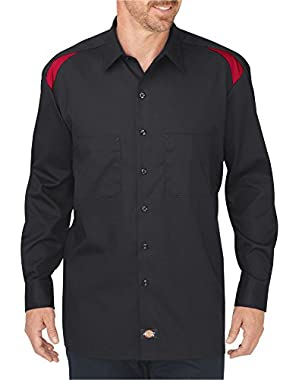 Dickies Men's Long Sleeve Performance Shop Shirt