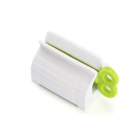Topker Rodando Tubo de Pasta dentífrica dispensador del exprimidor de Pasta de Dientes del sostenedor del
