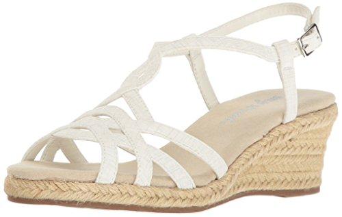 Ryanne Espadrille Sandale Compensée Femme Street / Blanc