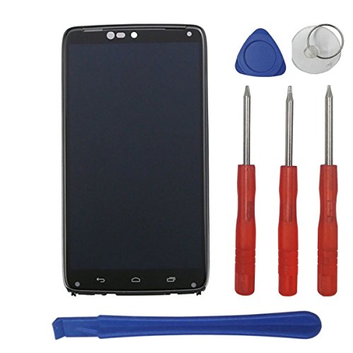 (Swark LCD Compatible with Motorola Droid Turbo XT1254 Display Touch Screen Digitizer Assembly + Frame Replacement with Tools)
