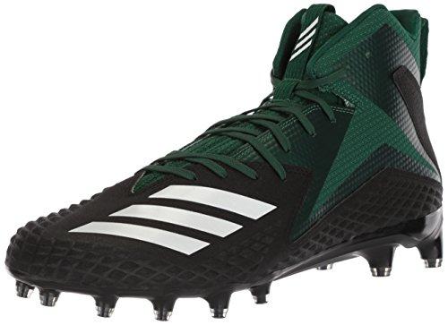 Zapatillas De Fútbol Adidas Hombres Freak X Carbon Mid, Núcleo Negro / Blanco / Verde Oscuro, 7 M Us