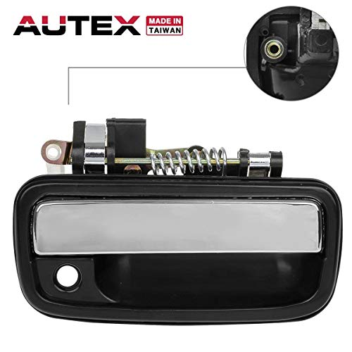 AUTEX 769MX Chrome Exterior Front Right Door Handle Passenger Side Compatible with Toyota Tacoma 1995-2004 Replacement for Toyota Hilux 2004-2012 Door Handle ()