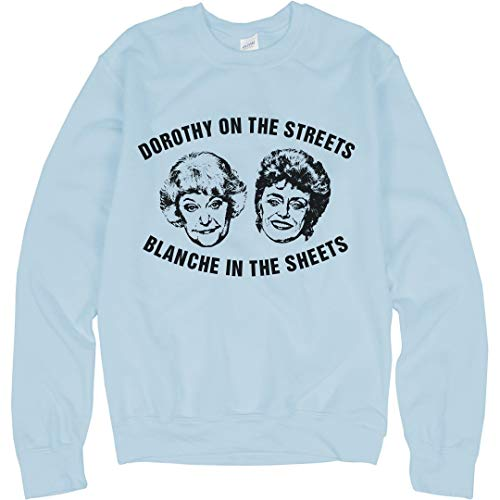 - Dorothy On The Streets: Unisex Gildan Crewneck Sweatshirt Light Blue