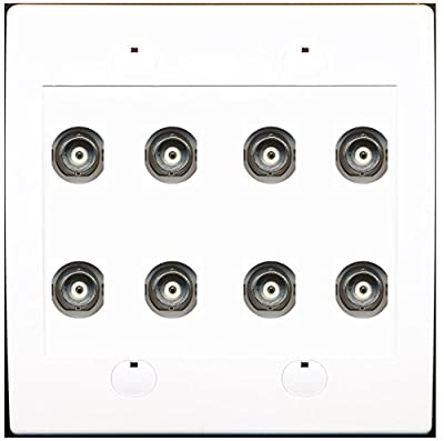 RiteAV 8 Port BNC Female/Female HD-SDI Jack Wall Plate