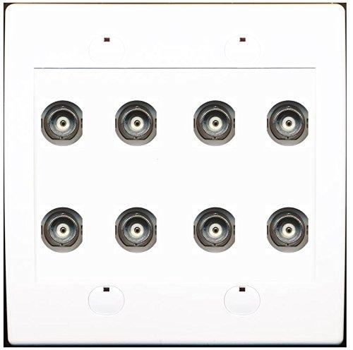 - RiteAV 8 Port BNC Female/Female HD-SDI Jack Wall Plate - White