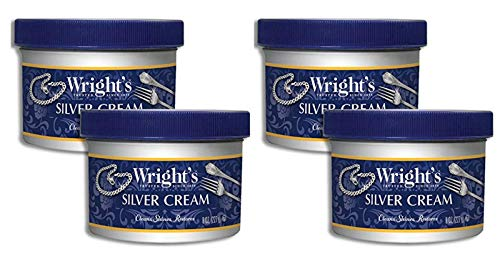 Silver Cleaner and Polish Cream - 2 Pack - 8 Ounce - Gently Clean and Remove Tarnish Without Scratching (4-Pack)