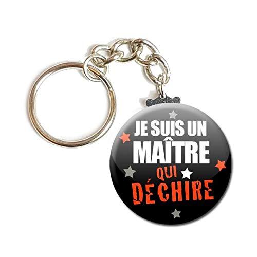 Porte Cl/és Cha/înette 3,8 centim/ètres je Suis un Ma/ître qui D/échire Id/ée Cadeau Accessoire /École Fin d Ann/ée Scolaire Instituteur Enfant /Éducation