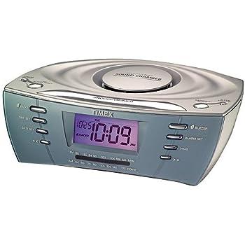 amazon com timex rainbow display clock radio w mp3 port t439s home rh amazon com Timex Nature Sounds Manual Timex T611t Manual Alarm Clock