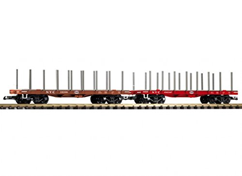 PIKO G SCALE MODEL TRAINS - NYC FLAT CARS 2-PACK - 38742