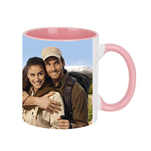 (Personalized Custom Coffee Mugs Cup, Add Your Photo/Text/Logo DIY Print Ceramic Cup Perfect Customized Keepsake Birthday Christmas Gift (Pink))