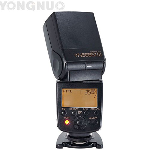 YONGNUO YN568EX III Wireless TTL Master Slave Flash Speedlite 1/8000s High Speed Sync Supports USB for Nikon DSLR Camera + WINGONEER Diffuser