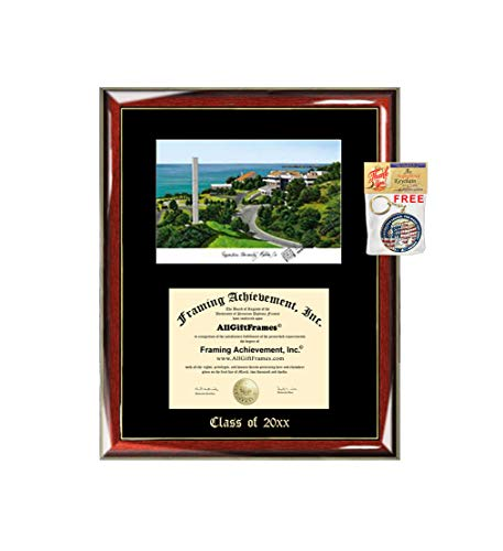 (Pepperdine University Diploma Frame Emboss Lithograph Degree Framing Certificate Plaque Graduation Gift Gradute Single Black Matted University Diploma Frames)