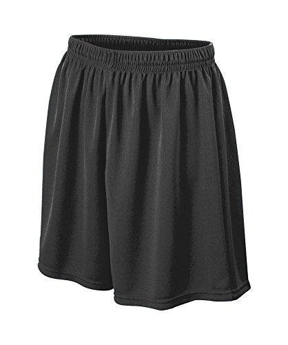 Augusta Sportswear MEN'S WICKING MESH SOCCER SHORT L Black Augusta Sportswear Mesh Shorts