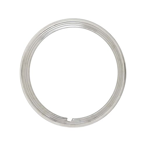 MACs Auto Parts 49-15921 Trim Ring - Polished Stainless Steel - For 15 Wheels Only