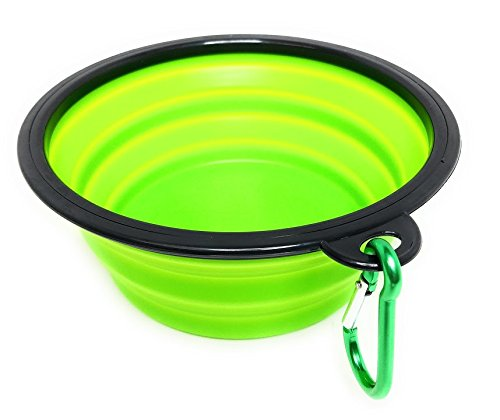 (Royal Brands Collapsible Bowl - Blue - Expandable Foldable Pet Dog/Cat Feeder Pop-Up Cup - BPA Free Portable Bowl - Perfect for Camping or Walks (7