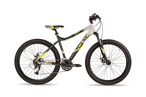 S'COOL Kinder Trox Pro 24 Jugendfahrrad, Grey/Yellow Matt, 26 Zoll