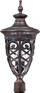 Nuvo 60-2060 (3 Light) Large Post Lantern - Dark Plum Bronze/Seeded Glass