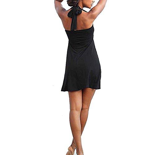 Hisea - Traje de una pieza - Sin mangas - para mujer negro