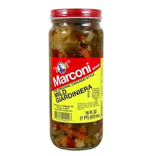 Italian Sweet Peppers - Mild Giardiniera 16 Oz., Pack of 2