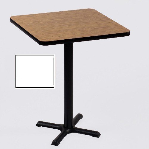 Correll Square Bar Table (42 in./33 in. X-Base/White) (Table Correll Office)