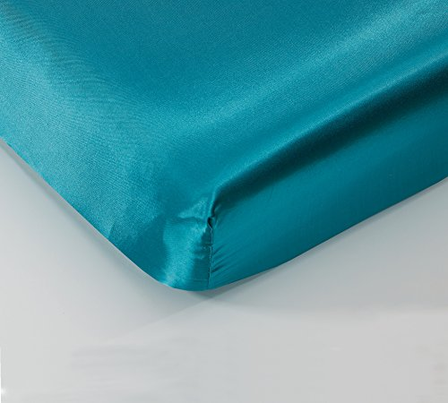EliteHomeProducts Super Soft & Silky Satin Crib Fitted Sheet (30