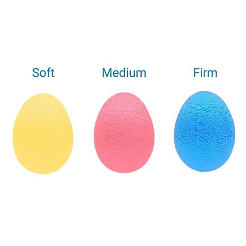 EX ELECTRONIX EXPRESS Colorful Hand Exercise Balls, Egg Shaped, 3 Squeeze Resistances (Soft, Medium, Firm) For Hand Training, Strengthens finger and palm muscles