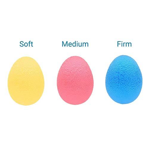 EX ELECTRONIX EXPRESS 78EGG3PK Egg Shaped Colorful Hand Exercise Balls ()