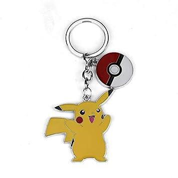 TUDUDU Joyería De Moda Pokemon Llavero Lindo Pikachu Clave ...