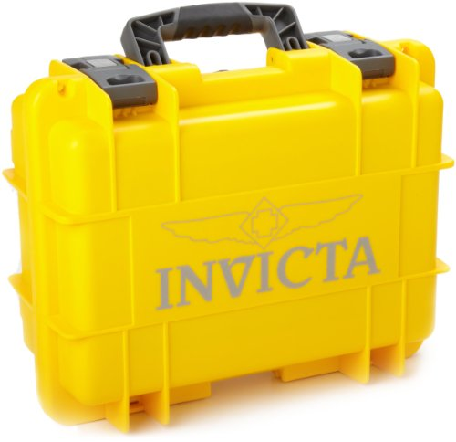 Invicta IG0098-RLC8S-Y 8 Slot Yellow Plastic Watch Box Case (Plastic Case Watch)