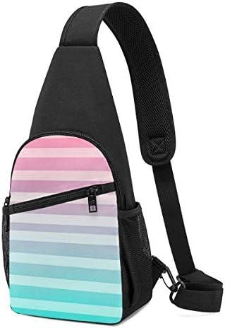ボディ肩掛け 斜め掛け 彩色のストライプ ショルダーバッグ ワンショルダーバッグ メンズ 軽量 大容量 多機能レジャーバックパック