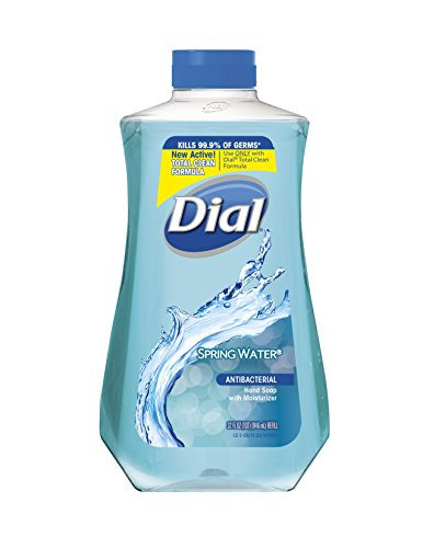 Dial Antibacterial Liquid Hand Soap Refill, Spring Water, 32 Fluid Ounces Body Soap Refill