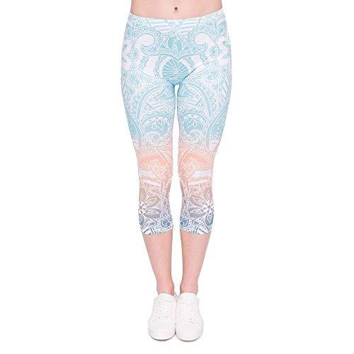 Breal Jogging De À Mandala Menthe 4 Femmes D'été Leggings La 3 Yoga Pantalon Capri Lgc45786 Pour Biran Pantalons 1f0wRqAw