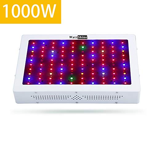 Wattshine Led Grow Light 1000W, Full Spectrum 12 Band Grow Lights Double Chips Growing Lamps with UV & IR for Indoor Plants Greenhouse Hydroponic Veg and Flower For Sale