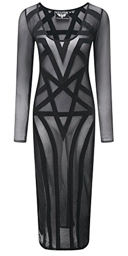 Killstar Maxi Mesh Kleid Maxi Schwarz Dress Zandra BrwvBqF