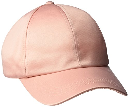 Silk Cap Baseball (D&Y Women's Solid Satin Baseball Cap, Dusty Pink One Size)