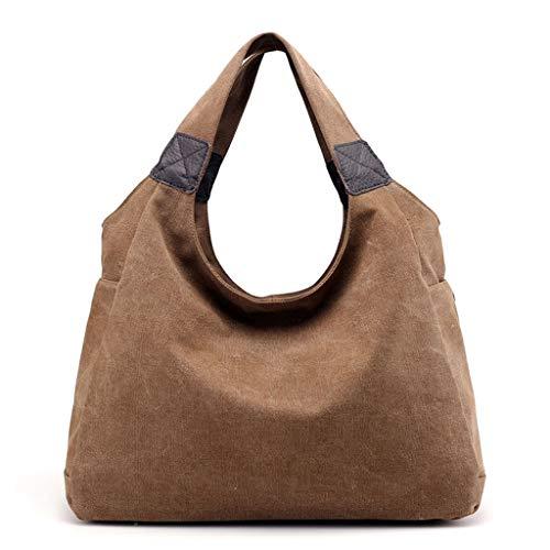 Les sacs à main imperméables des femmes l'Europe et le sac à bandoulière de toile de mode des Etats-Unis multicolore facultatif Brown