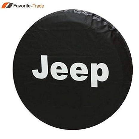 17 cm neumático de rueda de repuesto para funda Jeep Wrangler R17 para neumáticos carcasa de campana: Amazon.es: Jardín