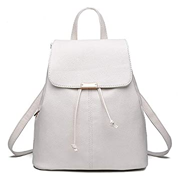 Redlicchi Women Off-White Leather Backpack Purse Satchel School Bags Casual  Travel Daypacks for Girls  Amazon.in  Bags 31a3b01b4a911