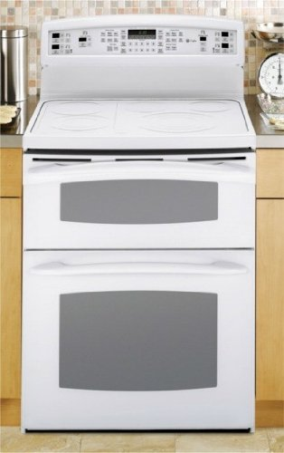30' Freestanding Convection Double Oven (GE Profile: PB978TPWW 30'' Freestanding Electric Range with 5 Radiant Elements, 2.2 cu. ft. Upper Oven, 4.4 cu. ft. Lower Oven, Self Clean, PreciseAir Convection System, TrueTemp Griddle System and Tri-Ring Element: White)