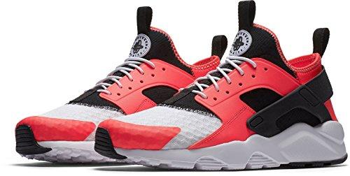 NIKE Herren Huarache Run Ultra Running Sneaker Sirene Rot / Schwarz
