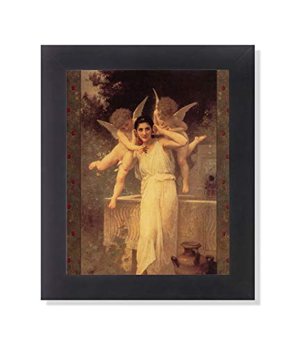 - Victorian Lady Cherub Angel L Innocence Wall Picture Framed Art Print