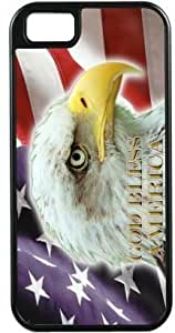 Nice American Flag Eagle Design Black Tough-It Case Cover for iPhone 4 & 4s (Double Layer case with Silicone Protection) by ruishername