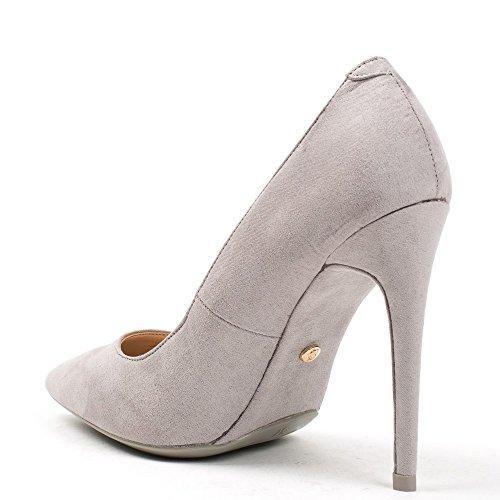 Ideal Shoes, Damen Pumps Grau