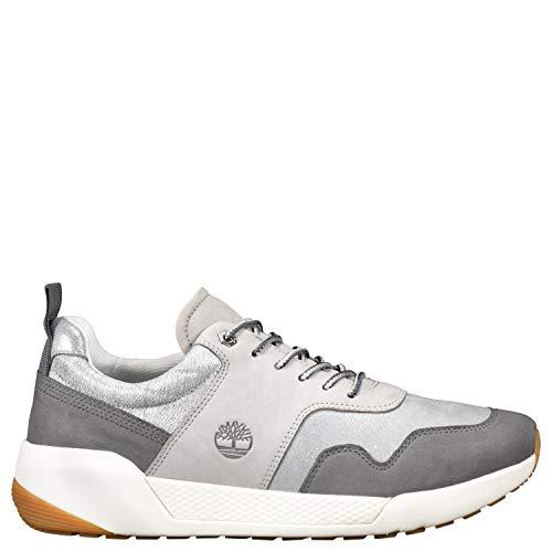 Timberland Tree A2277 Kiri Up F/L Retro Sneaker, Md Grey W Silver, 5.5M