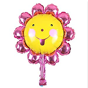 Aluminum Foil Sunflower Balloon Smiling Face Balloons Birthday Party Decoration