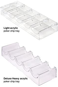Stackable 100-Chip Poker Chip Trays/Racks - Set of 10, Deluxe Heavy Acrylic Las Vegas Poker Chips