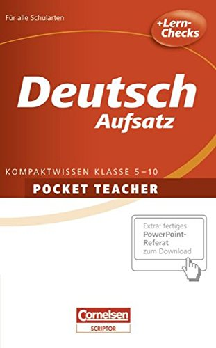 Pocket Teacher - Sekundarstufe I: Deutsch: Aufsatz