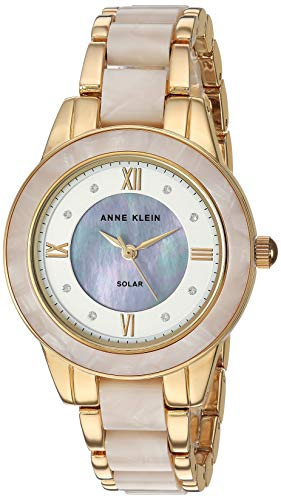 Anne Klein Considered Women's Solar Powered Swarovski Crystal Accented Resin Bracelet Watch, AK/3610