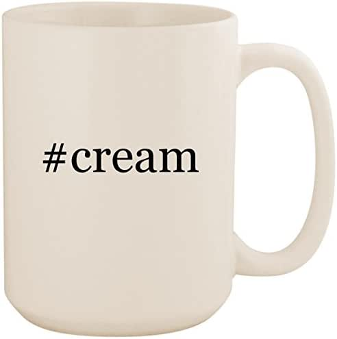 #cream - White Hashtag 15oz Ceramic Coffee Mug Cup
